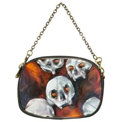 Halloween Skulls No  4 Chain Purses (two Sides)