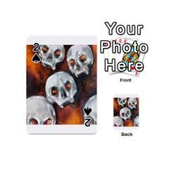Halloween Skulls No  4 Playing Cards 54 (mini)