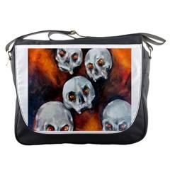 Halloween Skulls No  4 Messenger Bags