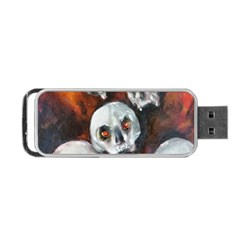 Halloween Skulls No  4 Portable Usb Flash (one Side)