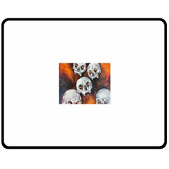 Halloween Skulls No. 4 Double Sided Fleece Blanket (Medium)