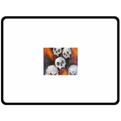 Halloween Skulls No  4 Double Sided Fleece Blanket (large)
