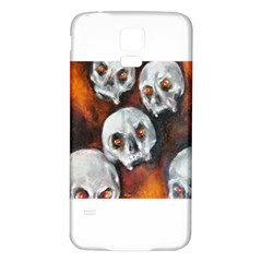 Halloween Skulls No. 4 Samsung Galaxy S5 Back Case (White)