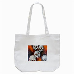 Halloween Skulls No. 4 Tote Bag (White)