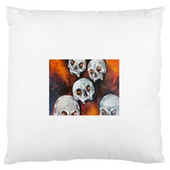 Halloween Skulls No. 4 Standard Flano Cushion Cases (One Side)