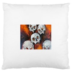 Halloween Skulls No. 4 Large Flano Cushion Cases (One Side)