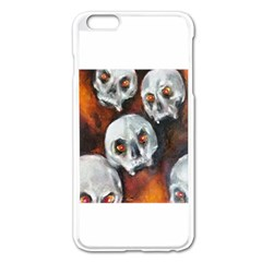 Halloween Skulls No  4 Apple Iphone 6 Plus Enamel White Case