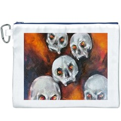 Halloween Skulls No. 4 Canvas Cosmetic Bag (XXXL)