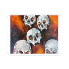 Halloween Skulls No  4 Double Sided Flano Blanket (mini)