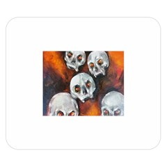 Halloween Skulls No  4 Double Sided Flano Blanket (small)