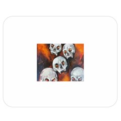 Halloween Skulls No. 4 Double Sided Flano Blanket (Medium)