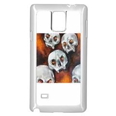 Halloween Skulls No. 4 Samsung Galaxy Note 4 Case (White)