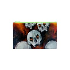 Halloween Skulls No. 4 Cosmetic Bag (XS)