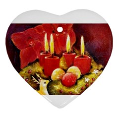 Holiday Candles  Ornament (heart)