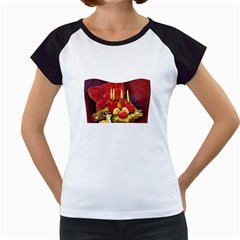 Holiday Candles  Women s Cap Sleeve T