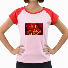 Holiday Candles  Women s Cap Sleeve T Shirt