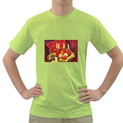 Holiday Candles  Green T-Shirt
