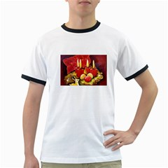 Holiday Candles  Ringer T-Shirts