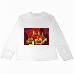 Holiday Candles  Kids Long Sleeve T Shirts