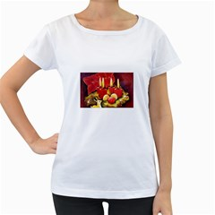 Holiday Candles  Women s Loose-Fit T-Shirt (White)
