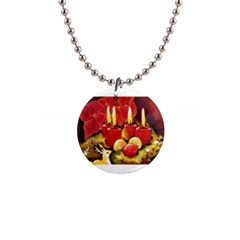 Holiday Candles  Button Necklaces