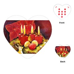 Holiday Candles  Playing Cards (Heart)