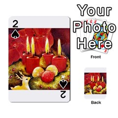 Holiday Candles  Playing Cards 54 Designs