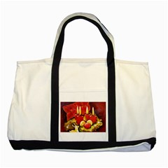 Holiday Candles  Two Tone Tote Bag