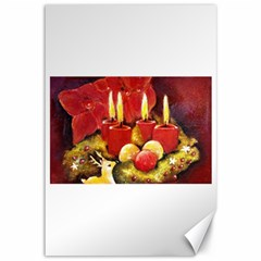 Holiday Candles  Canvas 12  X 18