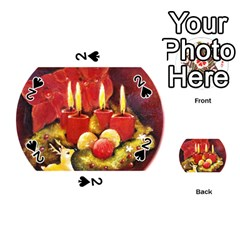 Holiday Candles  Playing Cards 54 (Round)