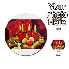 Holiday Candles  Multi-purpose Cards (Round)