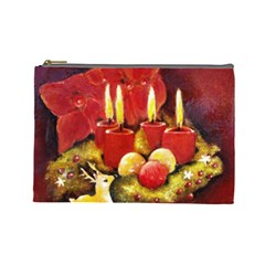 Holiday Candles  Cosmetic Bag (large)