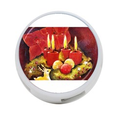 Holiday Candles  4 Port Usb Hub (one Side)