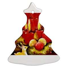 Holiday Candles  Christmas Tree Ornament (2 Sides)