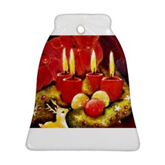 Holiday Candles  Bell Ornament (2 Sides)