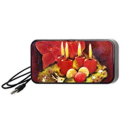 Holiday Candles  Portable Speaker (black)