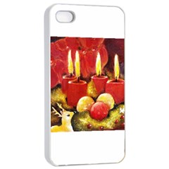 Holiday Candles  Apple iPhone 4/4s Seamless Case (White)