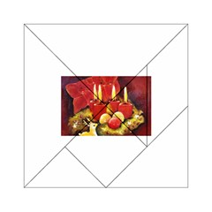 Holiday Candles  Acrylic Tangram Puzzle (6  X 6 )