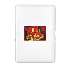 Holiday Candles  Samsung Galaxy Tab 2 (10 1 ) P5100 Hardshell Case