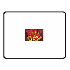 Holiday Candles  Double Sided Fleece Blanket (Small)