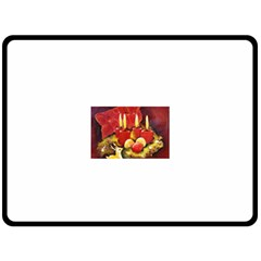 Holiday Candles  Double Sided Fleece Blanket (Large)