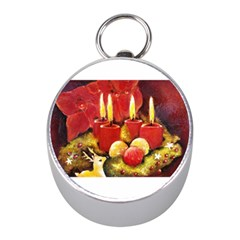Holiday Candles  Mini Silver Compasses