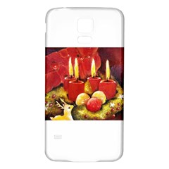 Holiday Candles  Samsung Galaxy S5 Back Case (White)