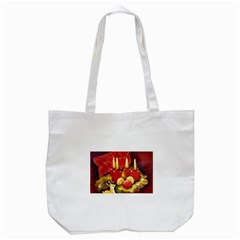 Holiday Candles  Tote Bag (white)
