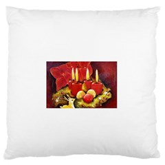Holiday Candles  Large Flano Cushion Cases (one Side)
