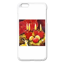 Holiday Candles  Apple iPhone 6 Plus Enamel White Case