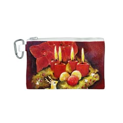 Holiday Candles  Canvas Cosmetic Bag (S)