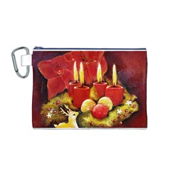 Holiday Candles  Canvas Cosmetic Bag (M)