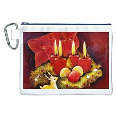 Holiday Candles  Canvas Cosmetic Bag (xxl)