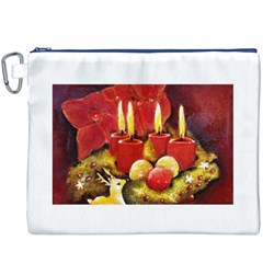 Holiday Candles  Canvas Cosmetic Bag (XXXL)